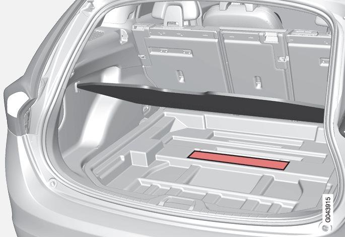 Opbevaringsplads til beskyttelsesnetkassetter.