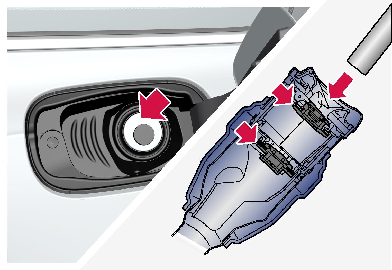 P5-1617-S90-capless fuel filler pipe