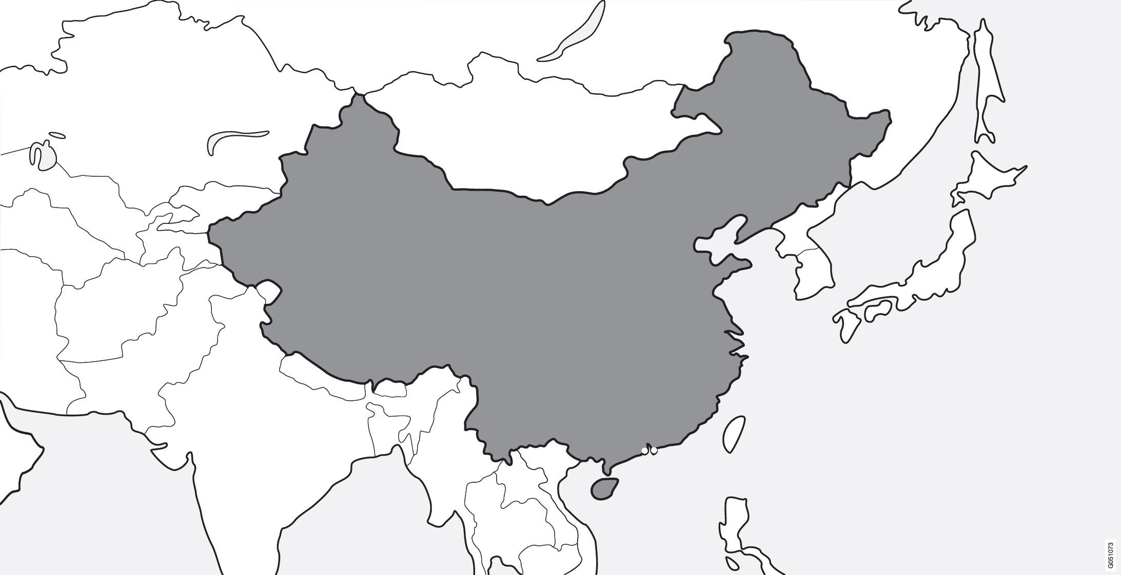 VOC在标记为灰色的区域可用。VOC在中国香港或澳门地区不可用。