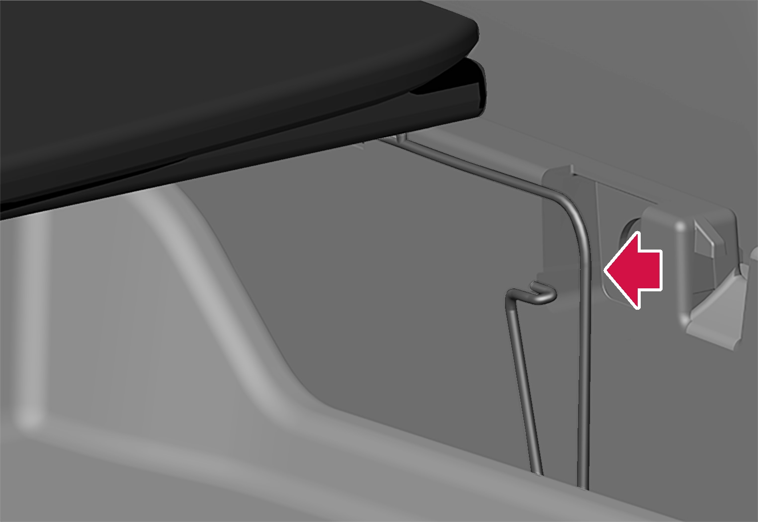 P6-1817-XC40-Foldable loadfloor removal step 2