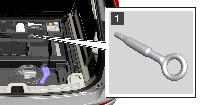 P5-1717-XC60-Towing eye, storage step 1