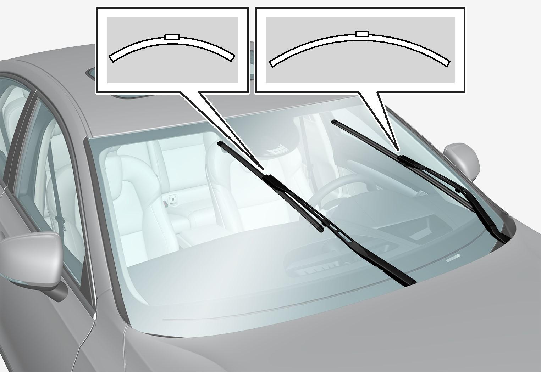 P5-1617-S90 V90-Wiper blades diffrent length