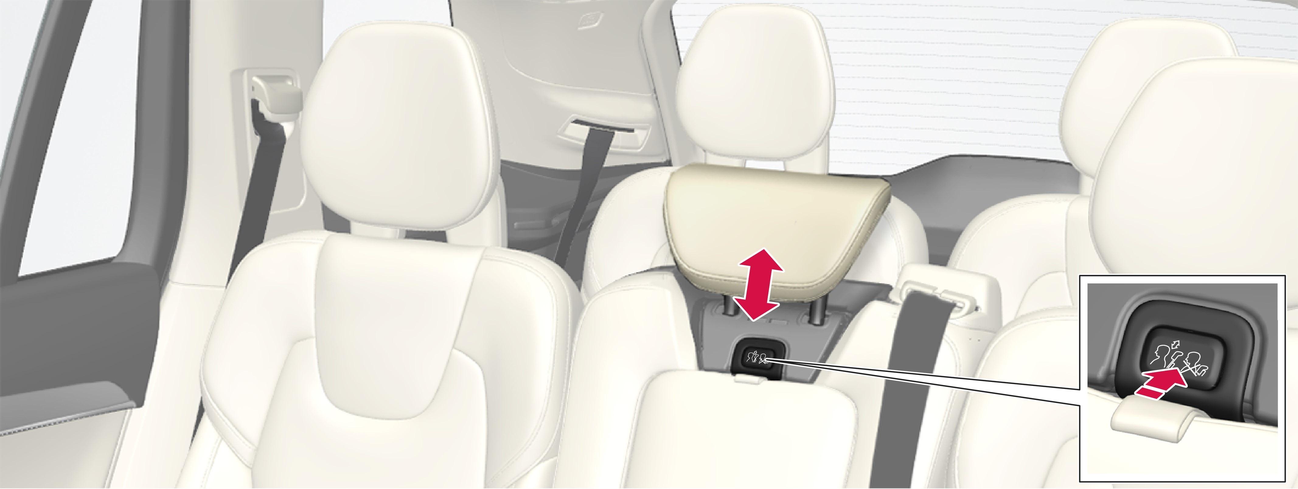 P5-1507-2nd seat row-Adjust headrest center back