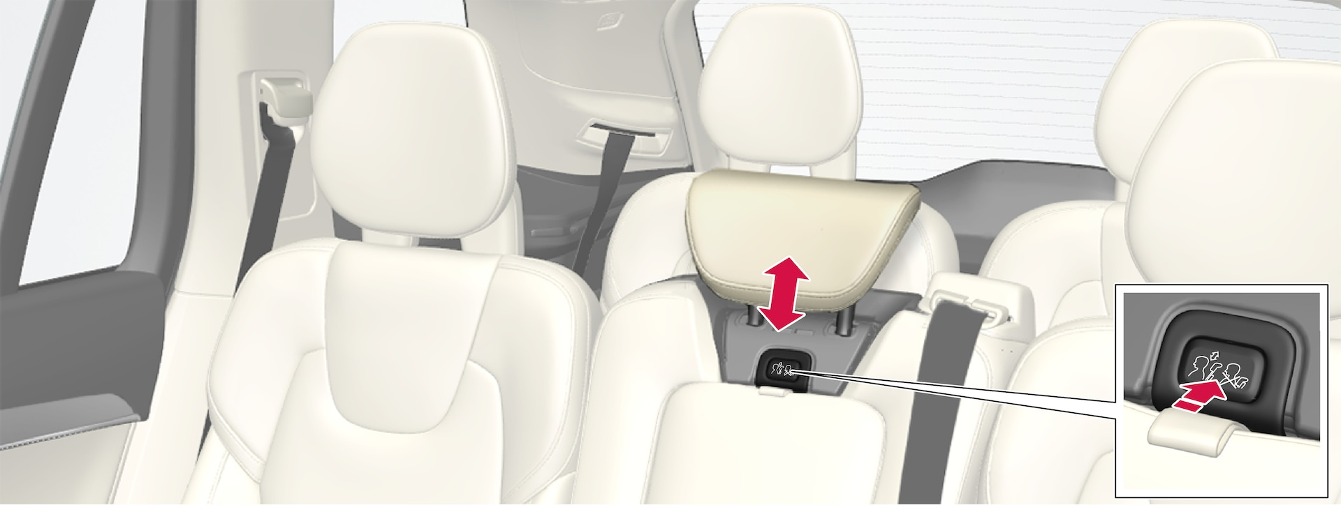 P5-1507-2nd seat row-Adjust headrest center back