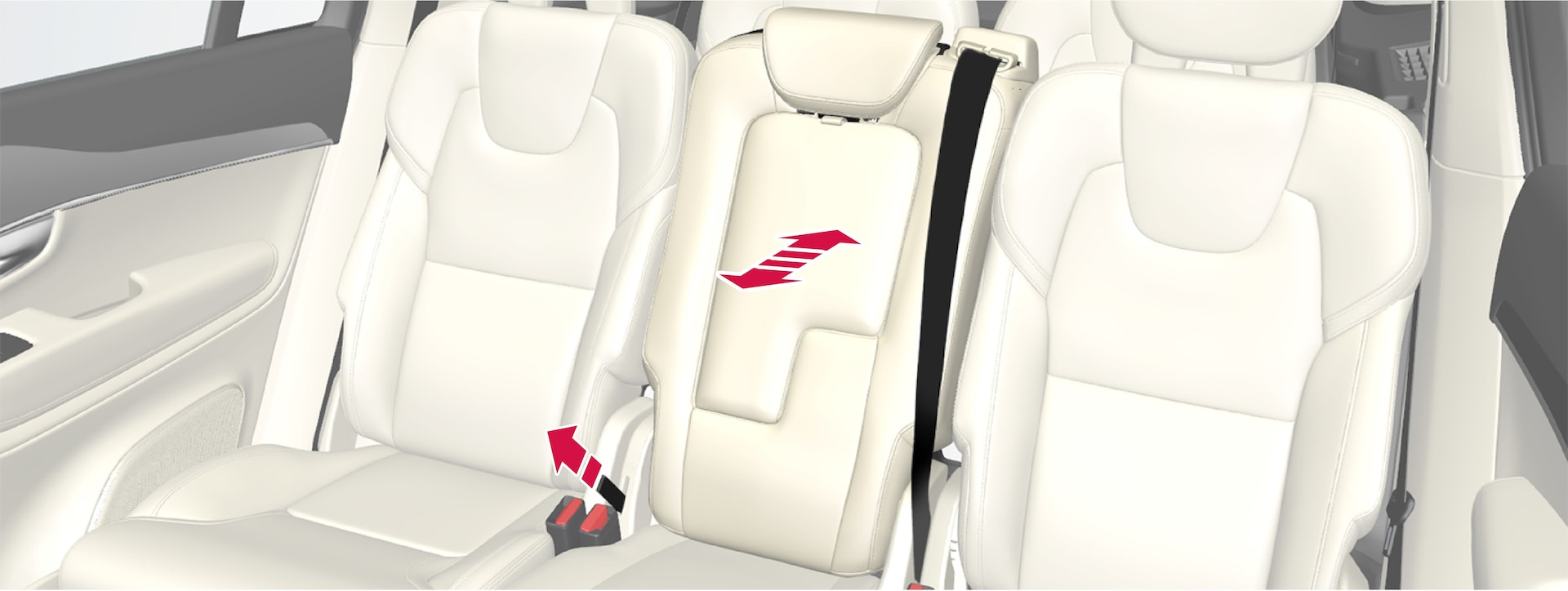 P5-1507-2nd seat row-Centre seat adjusted individually with strap