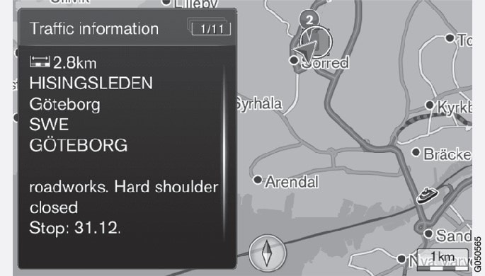 Traffic problem on map.