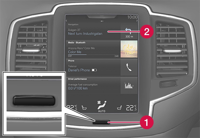 P5-1546-Navi-JPN- Hitta-Hem-knapp + Touch screen