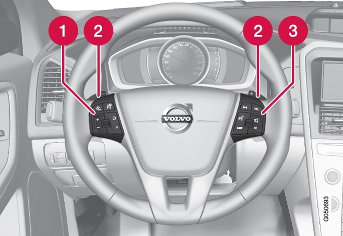 P3-1420-XC60 Keypads and paddles steering wheel