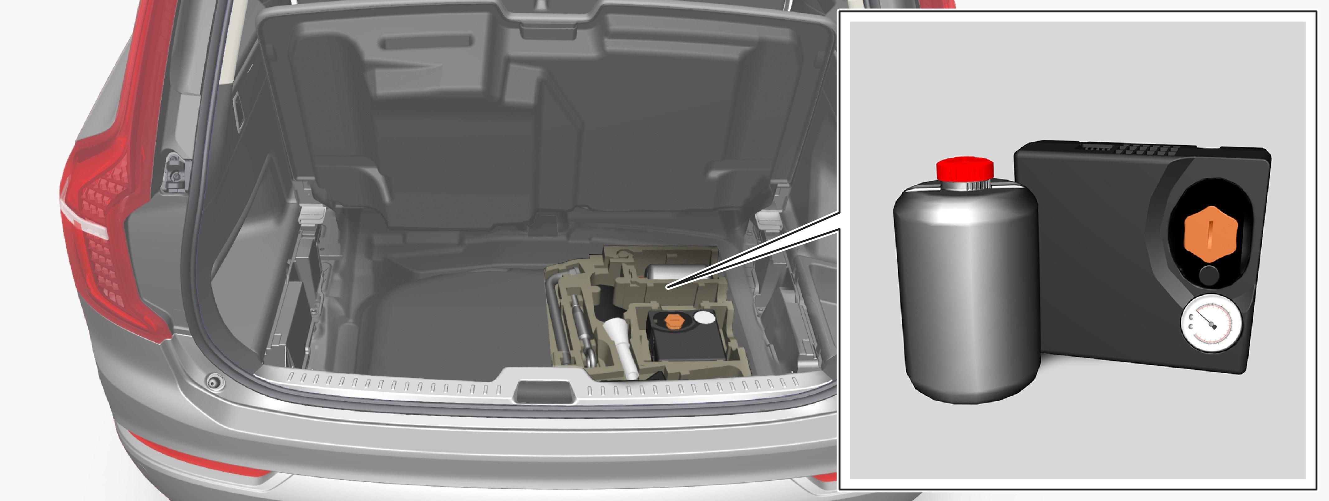 行李箱中的位置。插图仅为示意图 — 详细规格随车型的不同而有所变化。