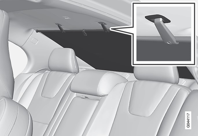 P3-1020-S60 Sun blind rear window