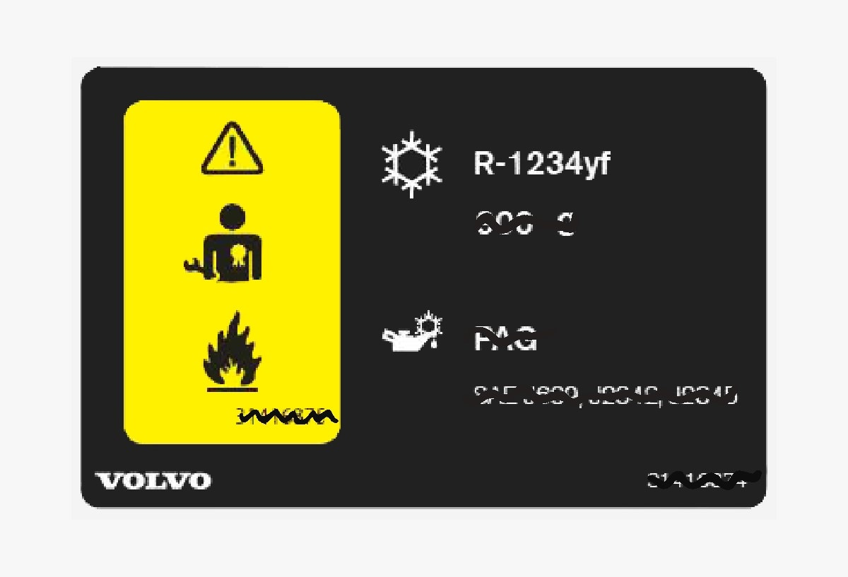 P5-1507-Decal air conditioning R1234yf