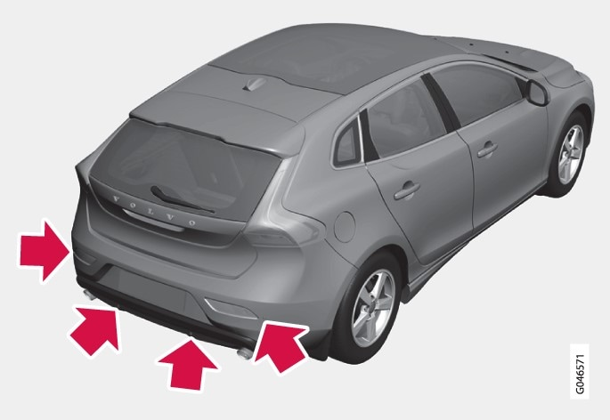 P4-1220-Parkeringshjälp Sensorer bak