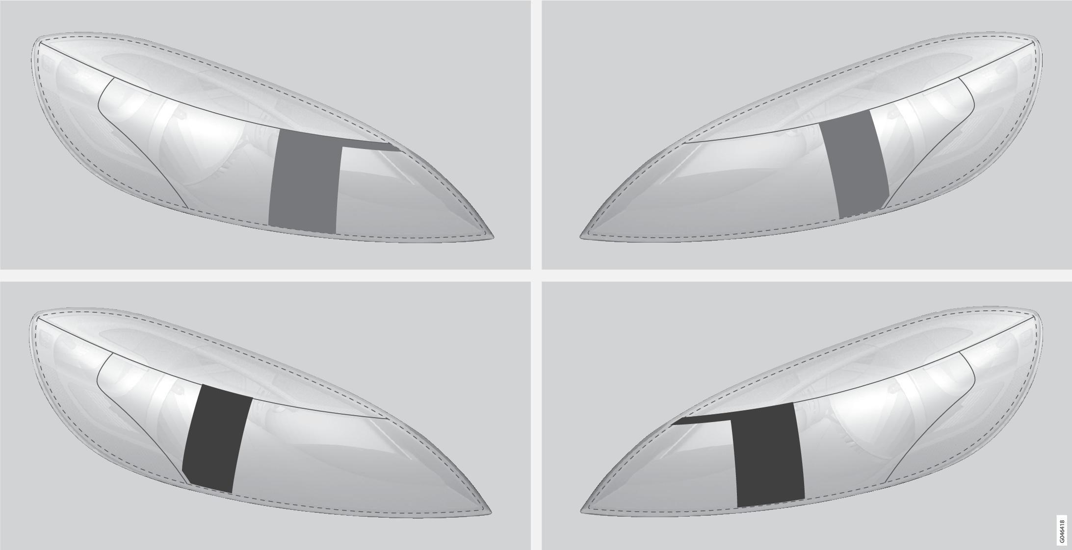 P4-1220-Y55X Masking halogen headlights