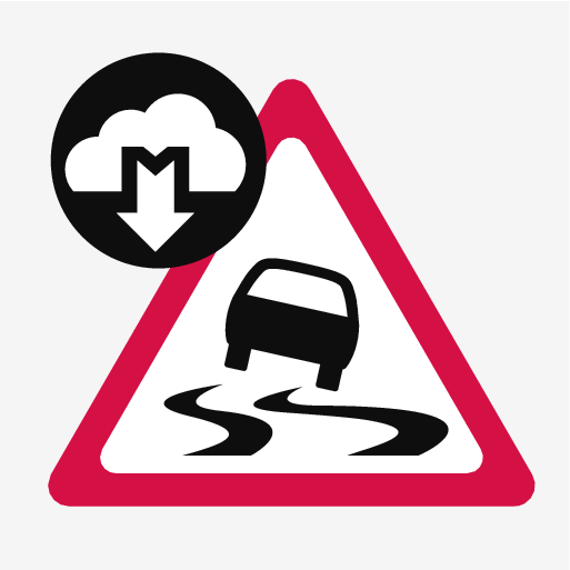 P5-1617-Connected Safety symbol Slippery Road
