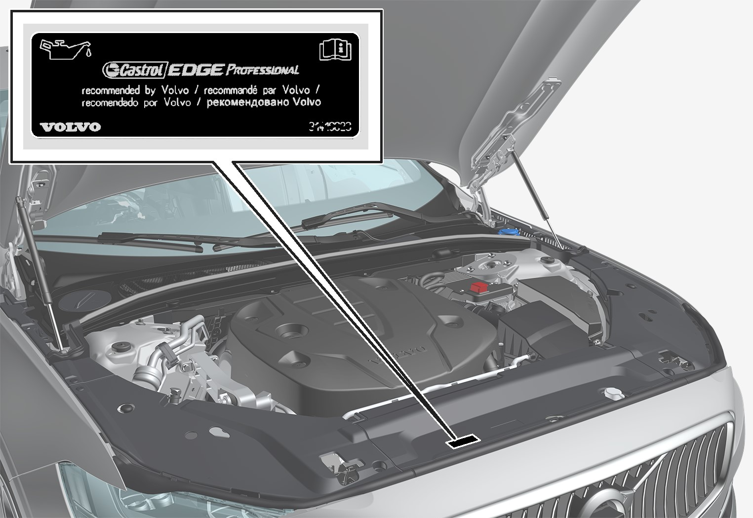 P5-1617-S90/V90 Oil decal EU/OS