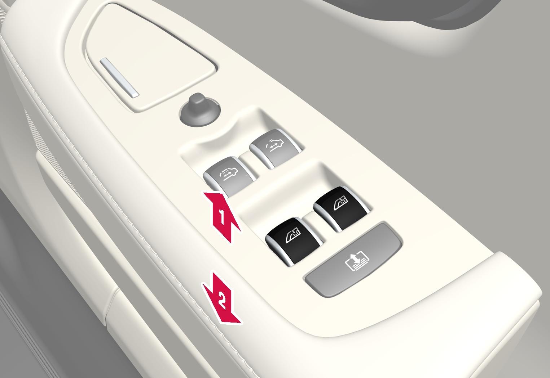 P5-1646-S90L Door control panel, right rear