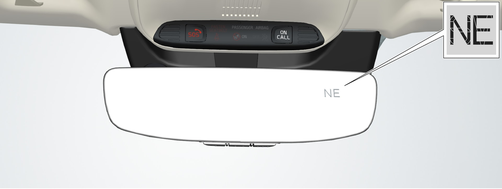 P5-1507-Rearview mirror with compass display