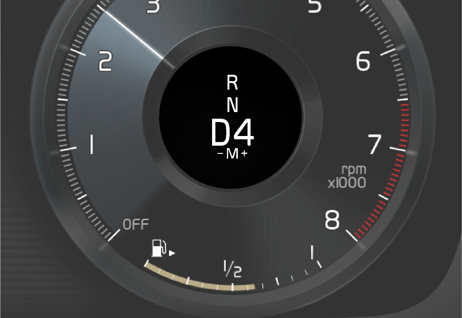 P5P6-1917-8G-Gear shifting with paddles, information in driver display