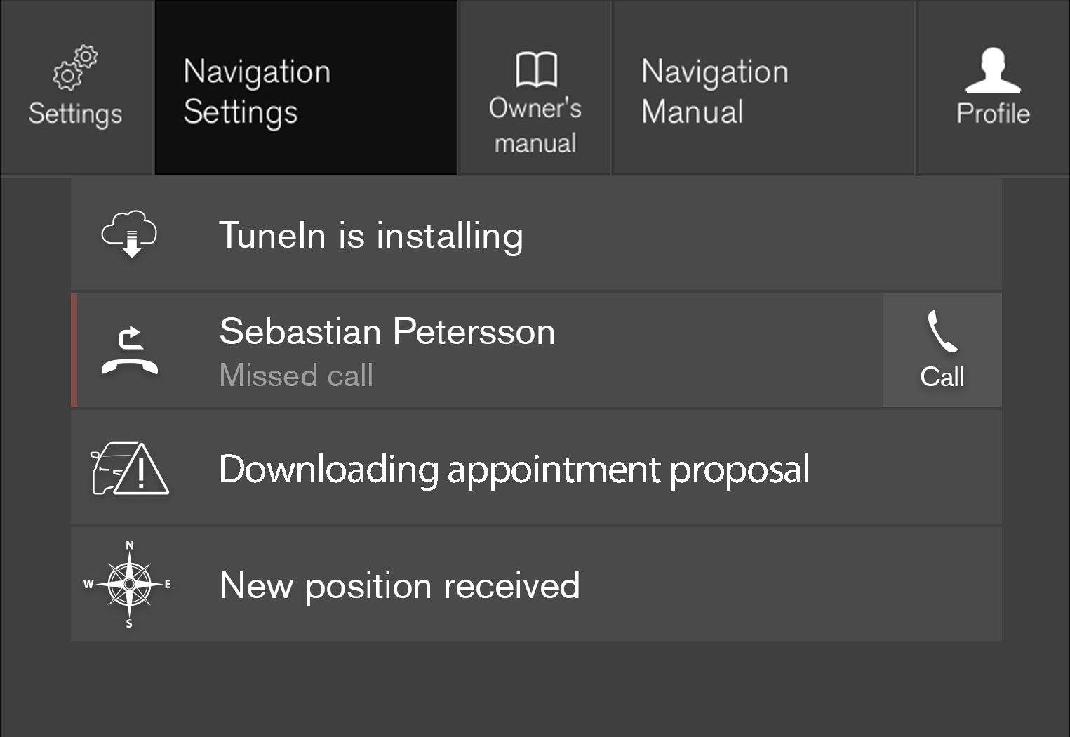 P5-17w46-Navigation settings pane-Contextueal higlighted