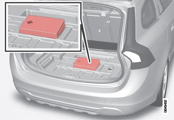 P3-1035-V60-Placering förbandslåda