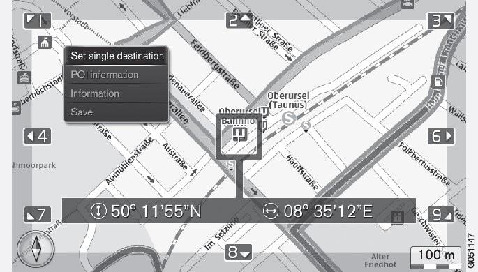 P3/P4-1420-IMAP-menu-Scroll view over POI-information