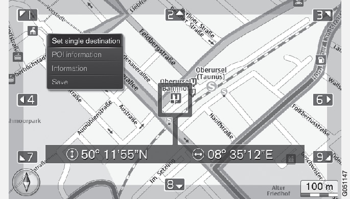 P3/P4-1420-IMAP-menu-Scroll view over POI-information