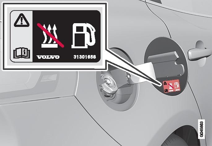 P4-1220-Y55X-Warning label fuel