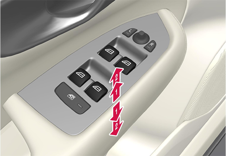 P5-1507 Driver's door control panel - operating