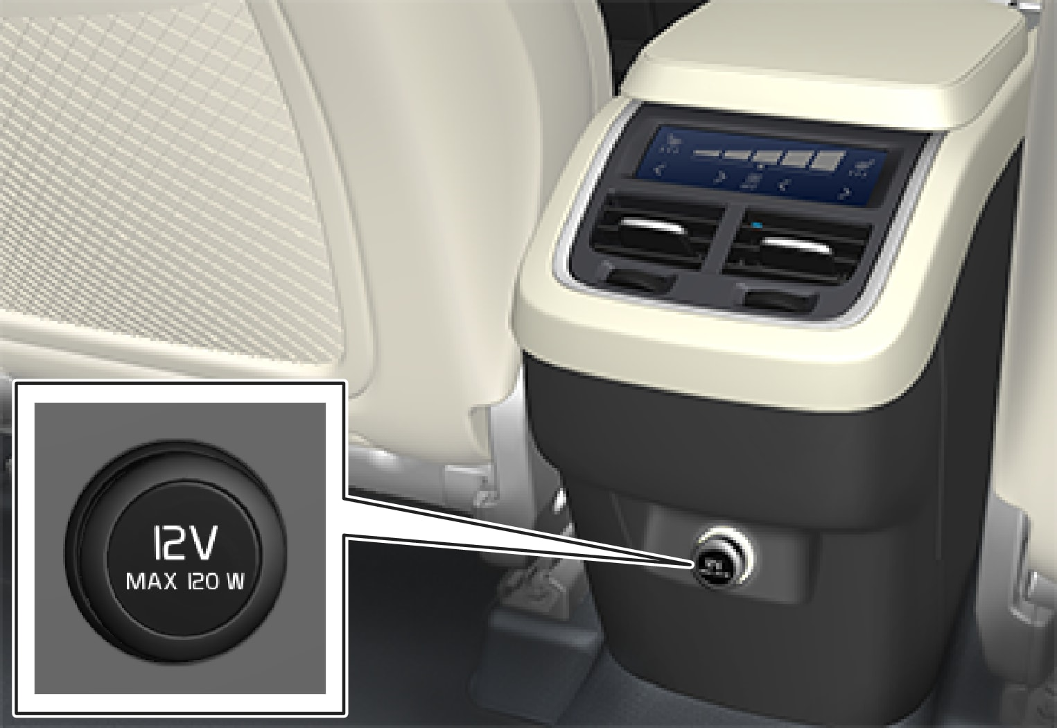 P5-1507–Interior–12 V outlet tunnel console rear