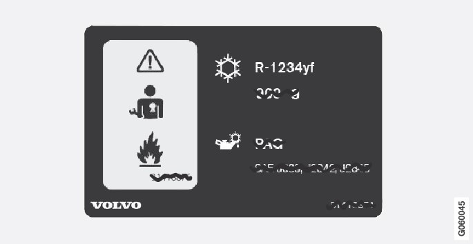 P3/P4-1617-Decal air conditioning R1234yf