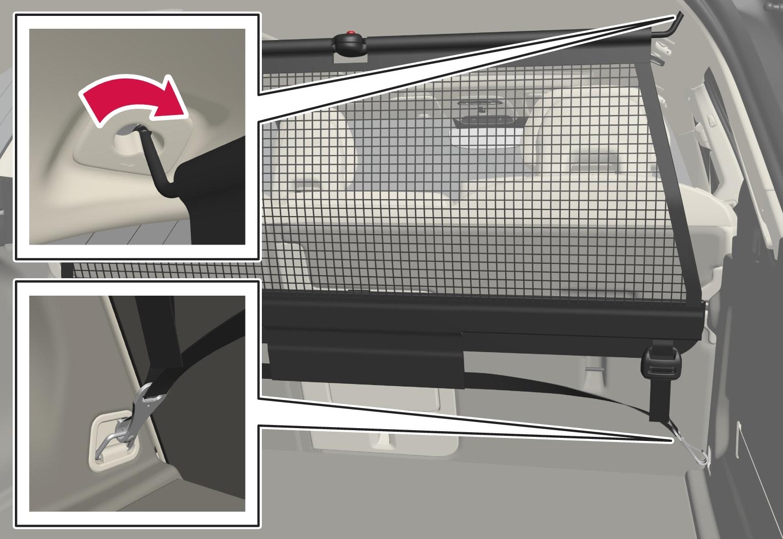 P5-1717-XC60-Load net rear installation