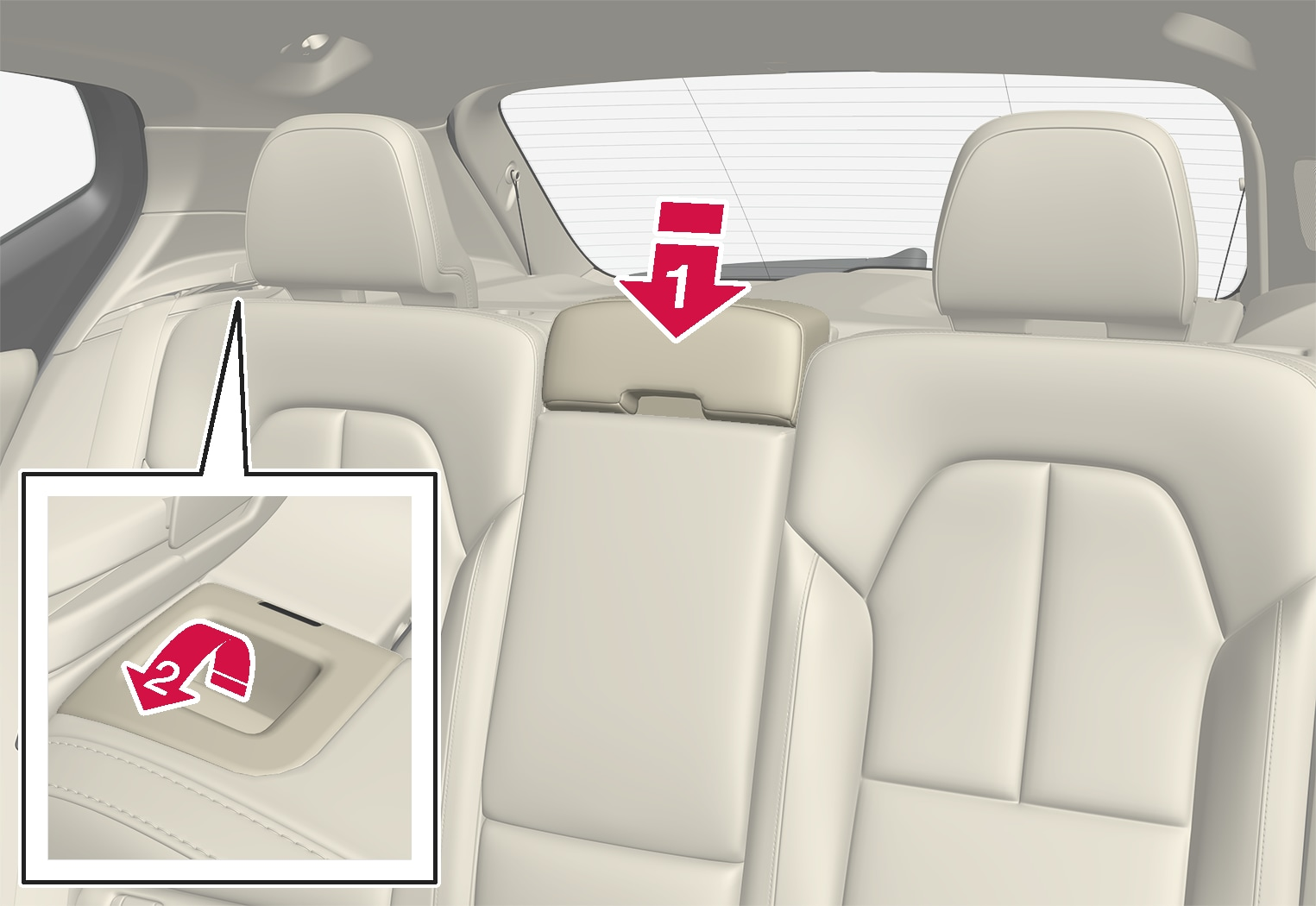 P6-1817-XC40-Folding rear seat manually from back seat