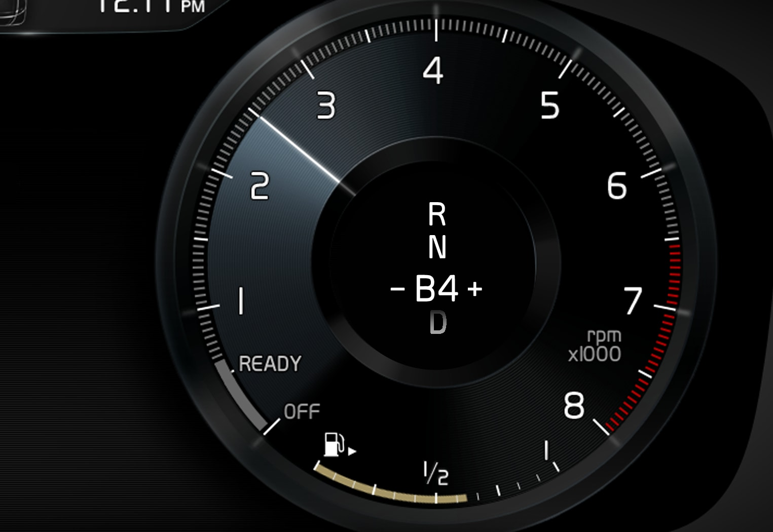 P5P6-1917-Hybrids-Manual gear in driver display