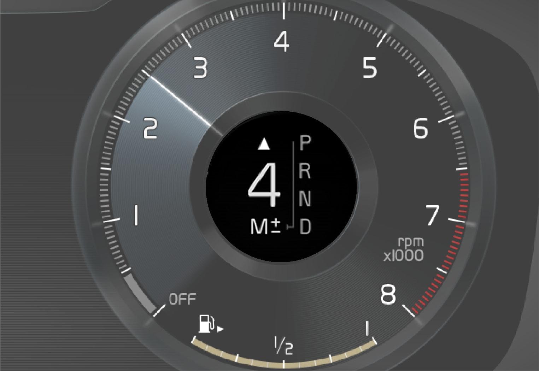 P5-1917-Gear shift indicator 12 inch driver display