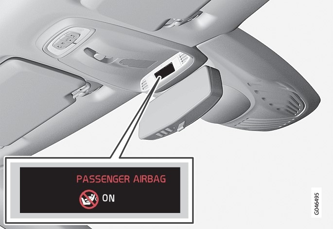 Indicator showing that the passenger airbag is activated.