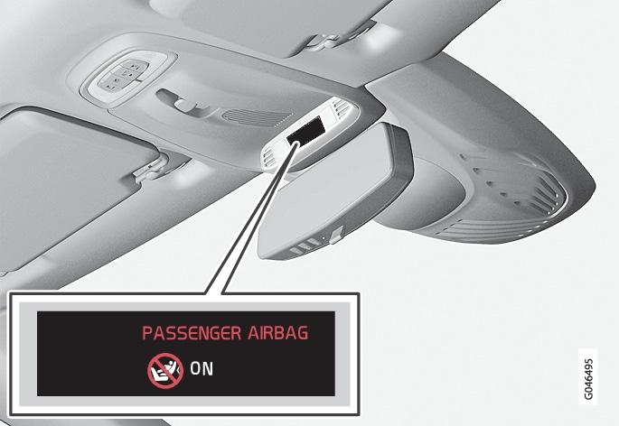 P4-1220-Y55X-Overheadconsol - Passenger airbag enabled