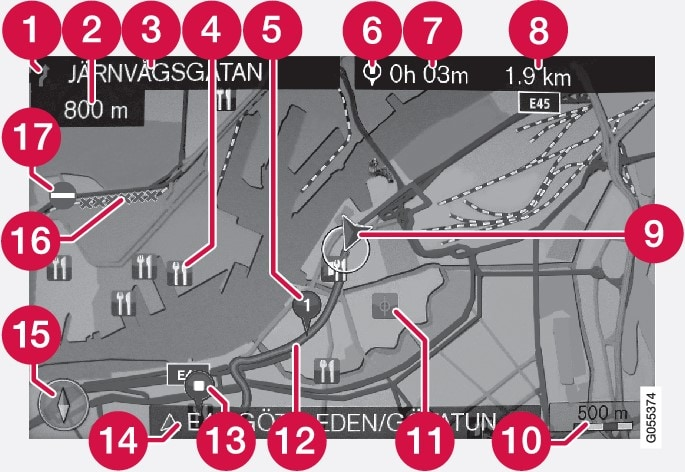 P3/P4-1517-Navi-RoW-Text and symbols on the map
