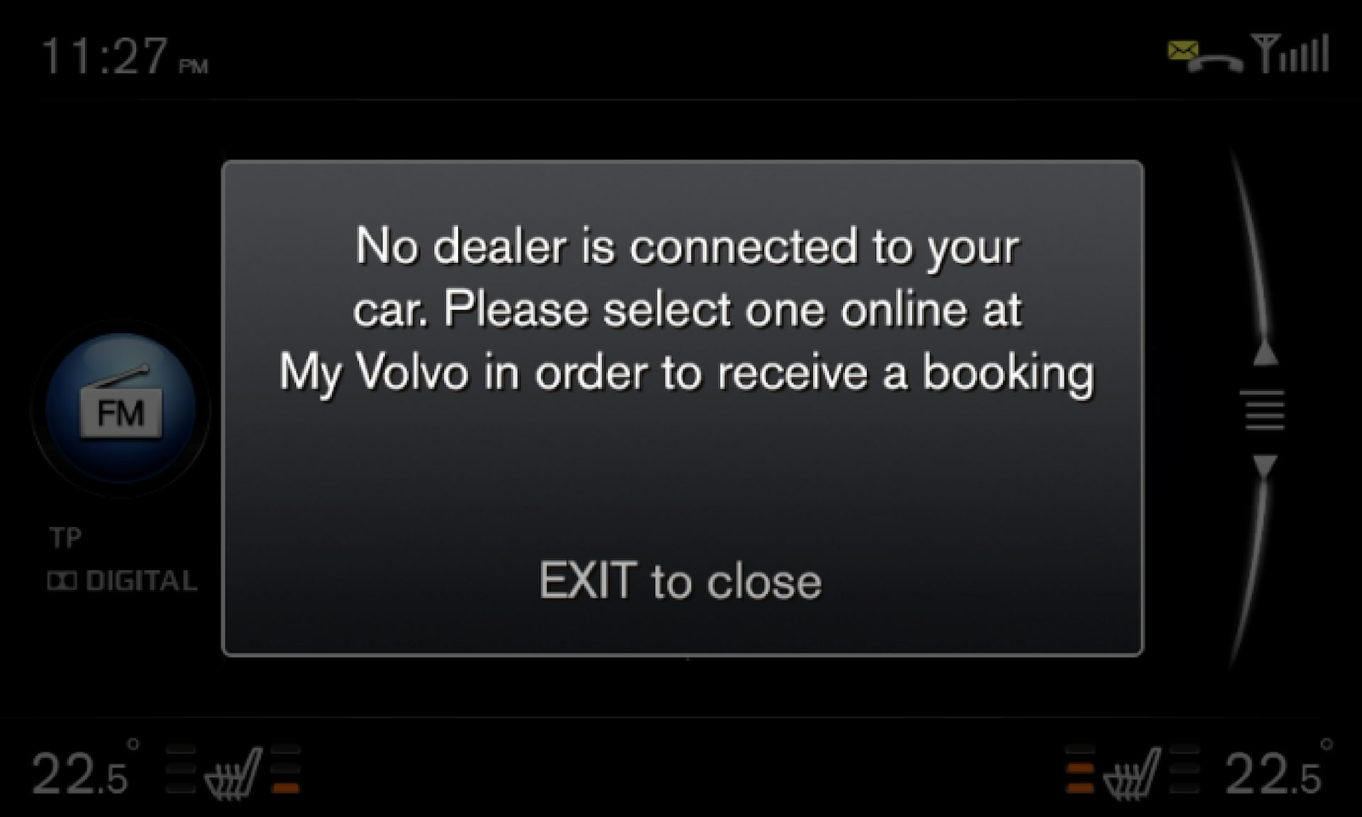 P3/P4 - Support site - Error message - Select a dealer online at My Volvo to receive a booking