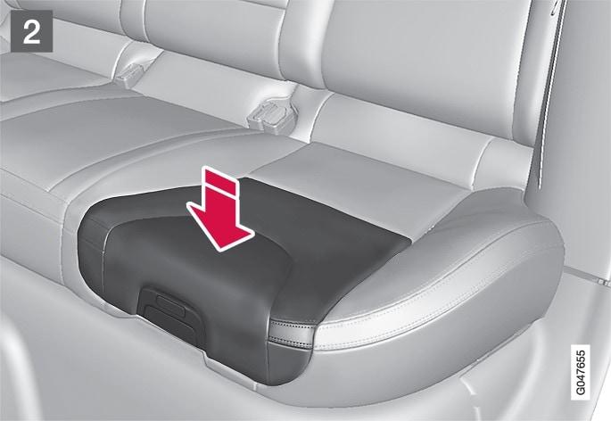 P3-1246-XC60 V60 V60H Integrated child seat, closing ill 2