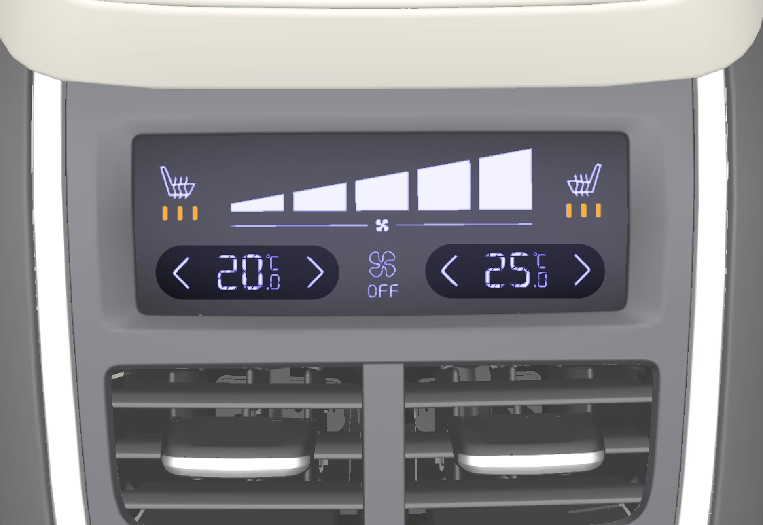 P5-1507–Climate–Rear climate controls temperature