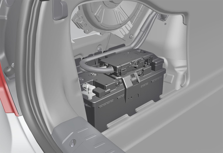 P5-1617-S90 Starter battery location