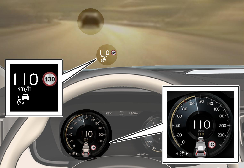 P5-1617-s+v90 ACC Följer ACC + Avstånd
