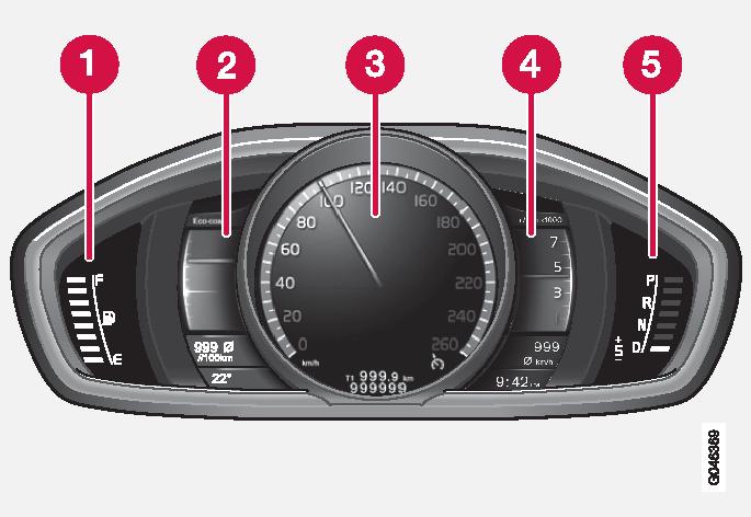 P4-1220-Y55X Information display, gauges, DIM High-Line Eco