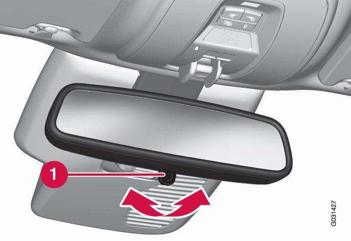 P3-XC60,V60H Interior rearview mirror