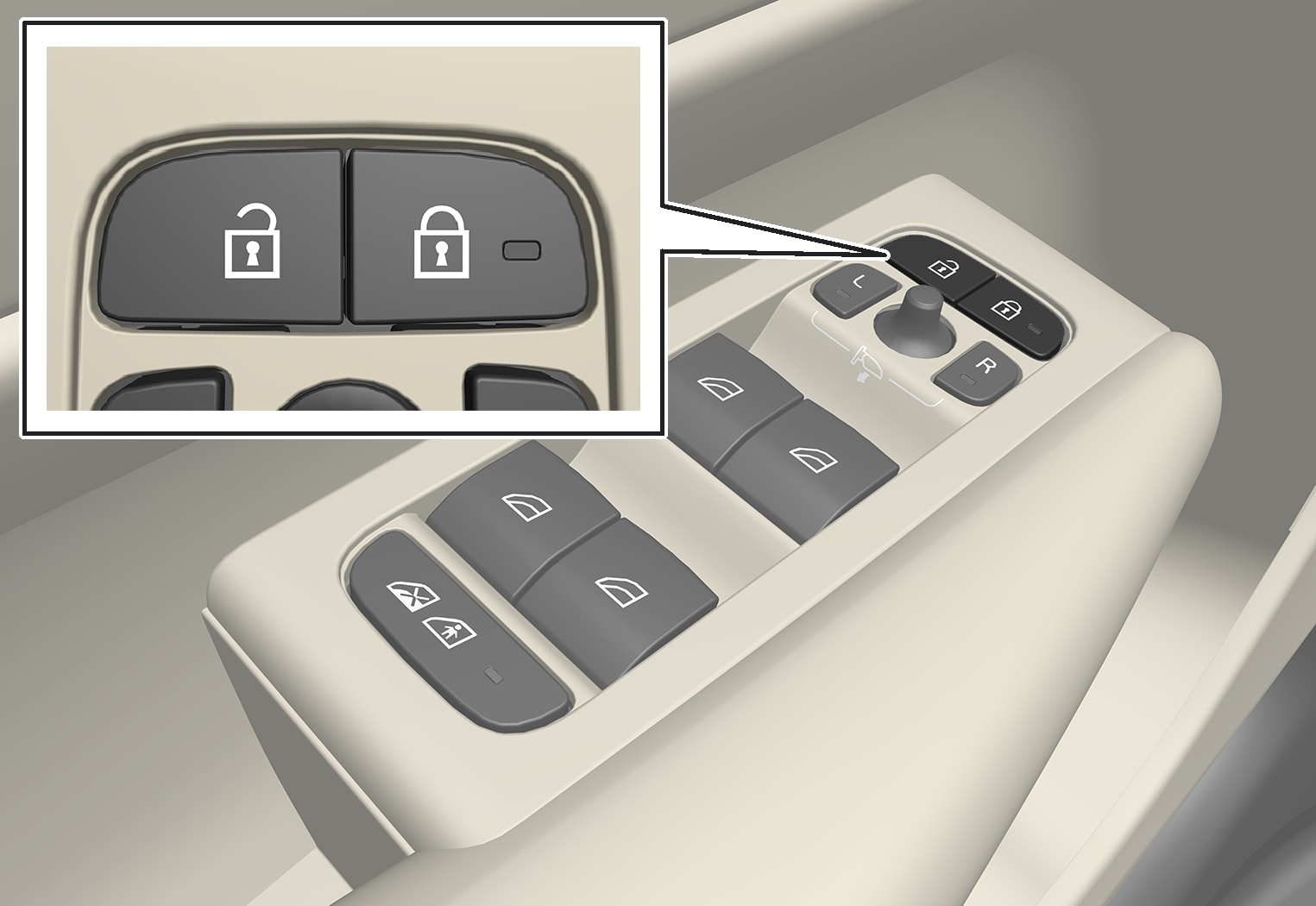 P6-1746-XC40-Central locking buttons front door