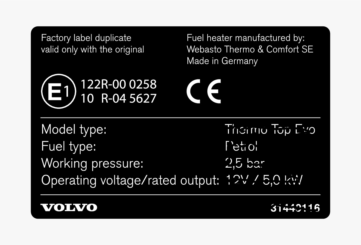 P5-1507-Decal parking heater