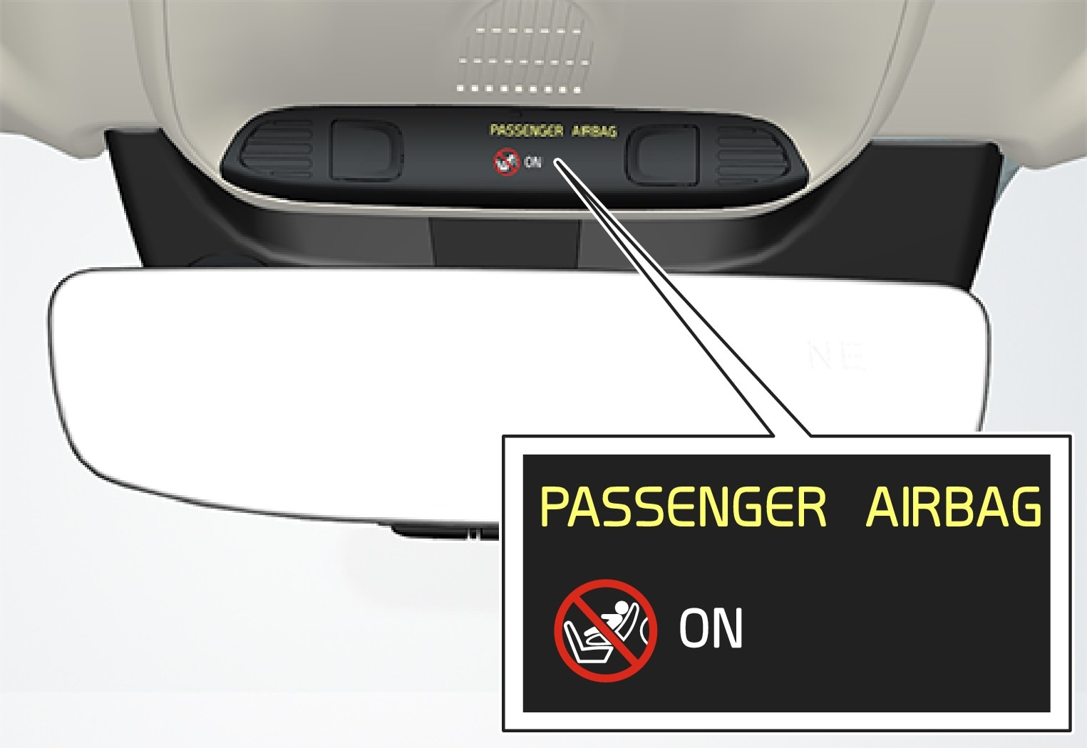 P5-1507–Safety–Overhead console passenger airbag on