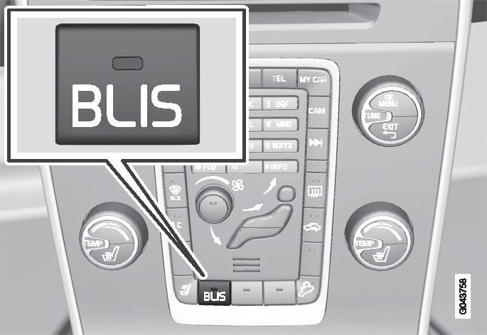 P3-sv60/V60H BLIS På-/Av-knapp