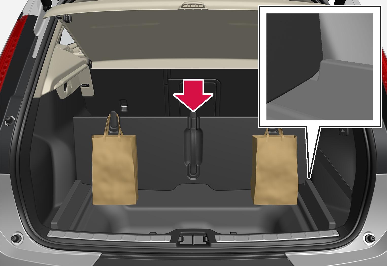 P6-1746-XC40-bag holder in foldable load floor