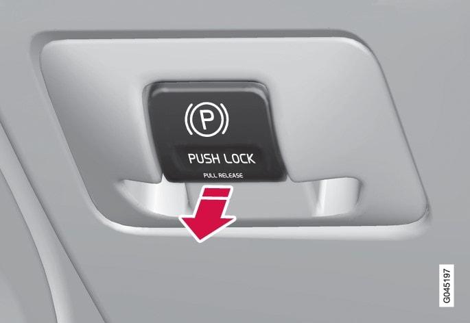 Parking brake control - release.